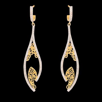 1 Gram Gold American Diamond Earrings 42