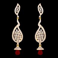 1 Gram Gold American Diamond Earrings 43