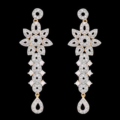 1 Gram Gold American Diamond Earrings 45