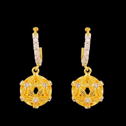 1 Gram Gold American Diamond Earrings 50