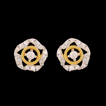 1 Gram Gold American Diamond Earrings 52