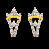 1 Gram Gold American Diamond Earrings 53