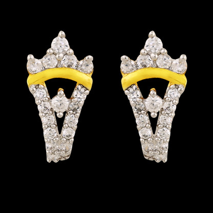 1 Gram Gold American Diamond Earrings 53