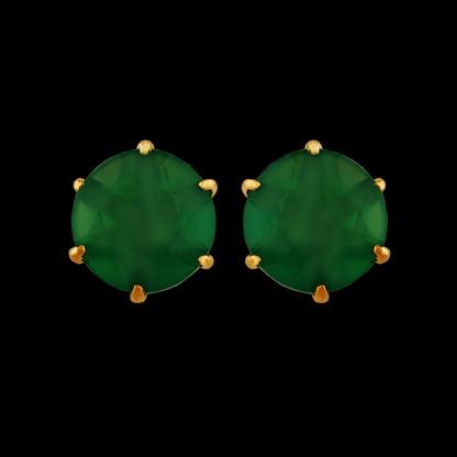 1 Gram Gold American Diamond Earrings 56