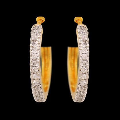 1 Gram Gold American Diamond Earrings 57