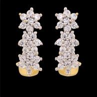 1 Gram Gold American Diamond Earrings 60