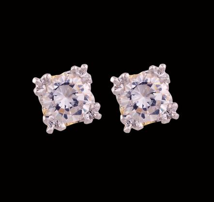 1 Gram Gold American Diamond Earrings 62
