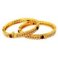 1 Gram Gold Studded Bangles 39