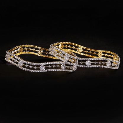 1 Gram Gold  American Diamond Bangles 51