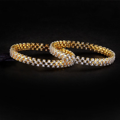 1 Gram Gold  American Diamond Bangles 52