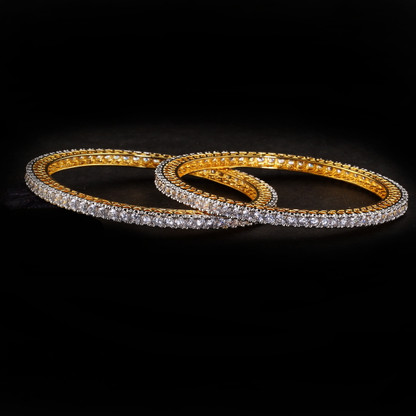 1 Gram Gold  American Diamond Bangles 53