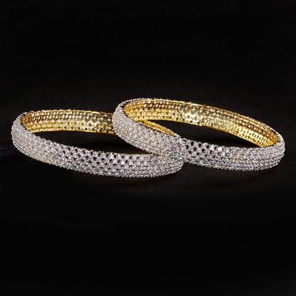 1 Gram Gold  American Diamond Bangles 56