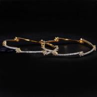 1 Gram Gold American Diamond Bangles 59