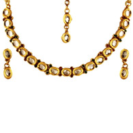 1 Gram Gold Kundan Necklace Set 45