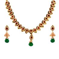 1 Gram Gold Studded Necklace Set 54