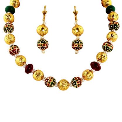 1 Gram Gold Beads Necklace Set 64
