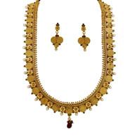 1 Gram Gold Temple Necklace Set 99