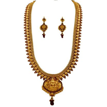 1 Gram Gold Temple Necklace Set 104