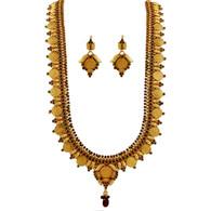1 Gram Gold Temple Necklace Set 105