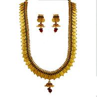 1 Gram Gold Temple Necklace Set 106