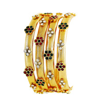 1 Gram Gold Studded Bangles 11
