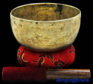 """Antique Tibetan Singing Bowl #7810 : Thado 6 3/4"""", ca. 18th Century, G197 & C+6."""
