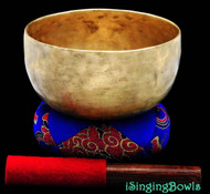 "Antique Tibetan Singing Bowl #8064 : Thado 6 7/8"", ca.18th., A+2 & D#+4."