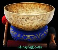 "New Tibetan Singing Bowl #8354 : Jambati 10 5/8"" Diameter, Contemporary, A#2 & E5."