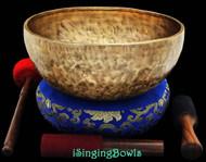 "New Tibetan Singing Bowl #8349 : Jambati 12"" Dia, Contemporary, G#2 & E4."