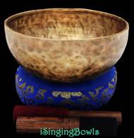 "New Tibetan Singing Bowl #8091 : Jambati 9 1/2"", Contemporary, B+10 & F#-10."