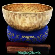 "New Tibetan Singing Bowl #8393 : Jambati 9 1/2"" Diameter, Contemporary, E3 & A#4."