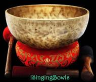 "New Tibetan Singing Bowl #8353 : Jambati 10 3/4"", Contemporary, A#2 & E4."