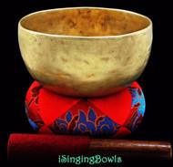 """Antique Tibetan Singing Bowl #7899 : Thado 6 3/4"""", circa 18th century, A#3 & E5."""