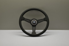 Nardi ND Classic Black Leather Grey Stitch Steering Wheel