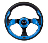 NRG 320mm Sport Steering Wheel w/ Blue Trim (ST-001BL)