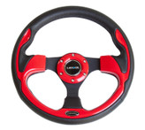 NRG 320mm Sport Steering Wheel w/ Red Trim (ST-001RD)
