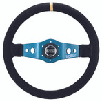 Sparco L550 350mm Blue / Suede- 015TSFS1
