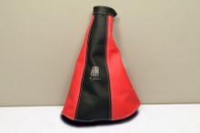 Copy of Nardi Leather Handbrake Gaiter Black / Red (3900.11.0000)