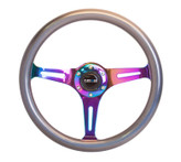 Smooth Classic Chameleon Wood Grain Wheel 350mm Neochrome finish 3 Spoke Center