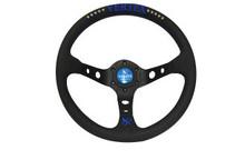 Vertex 10 STAR 330mm Black Leather Blue Stitch Steering Wheel