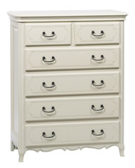 Bella House Chateau Tall Boy Chest of Drawers - A/Cream