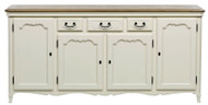 Bella House Chateau 4 Door Sideboard - A/Cream