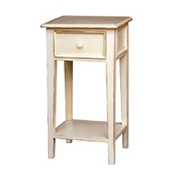 Bungalow Side Table - White Light Distressed