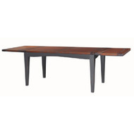 Eton extending Dining table - Black Heavy Distressed /AHM