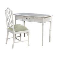 Martinique Faux Bamboo Desk w/Chair - Size: 79H x 105W x 50D (cm)