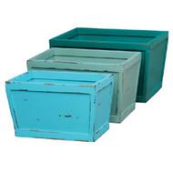 Hancock industrial crates set / 3 - Size: 28H x 48W x 35D (cm)