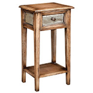 Bungalow Side Table With Antique Glass - Size: 80H x 44W x 34D (cm)