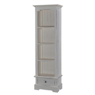Manchester Narrow 1 Drawer Bookcase - Size: 180H x 56W x 34D (cm)
