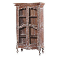Chateau Linen Cupboard w/ Chicken wire Door - Size: 190H x 110W x 46D (cm)