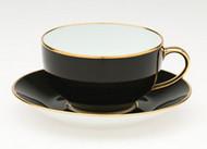 Limoges Legle Breakfast Cup & Saucer - Black